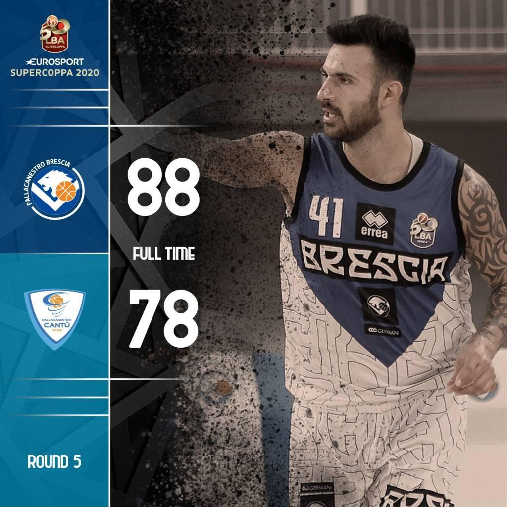 Eurosport LBA Supercoppa 2020: Brescia scappa negli ultimi 5 minuti e supera una buona Cantù
