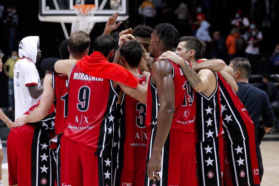 LBA Legabasket 1^ andata 2020-21: l'Olimpia Milano fatica nel primo tempo ma poi dilaga contro una buona Reggio