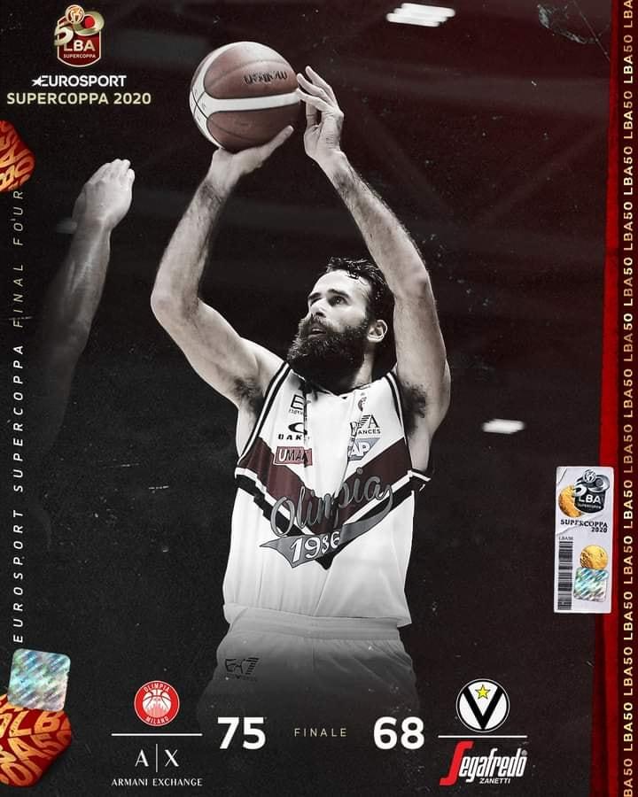 Eurosport LBA Supercoppa 2020: Datome e Hines trascinano l'Olimpia Milano che vince contro una coriacea Virtus