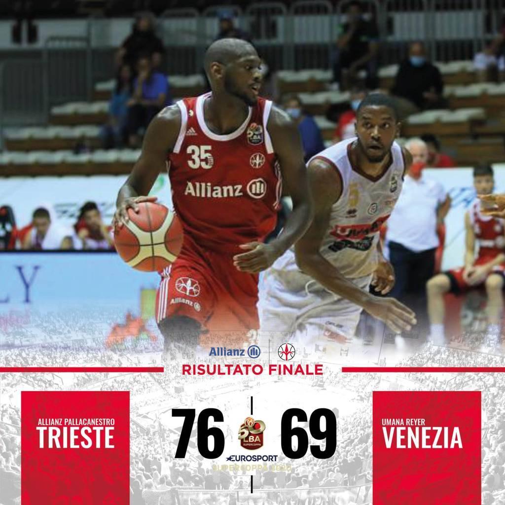 Eurosport LBA Supercoppa 2020: l'Allianz Trieste regala un dispiacere alla Reyer Venezia vincendo 76-69