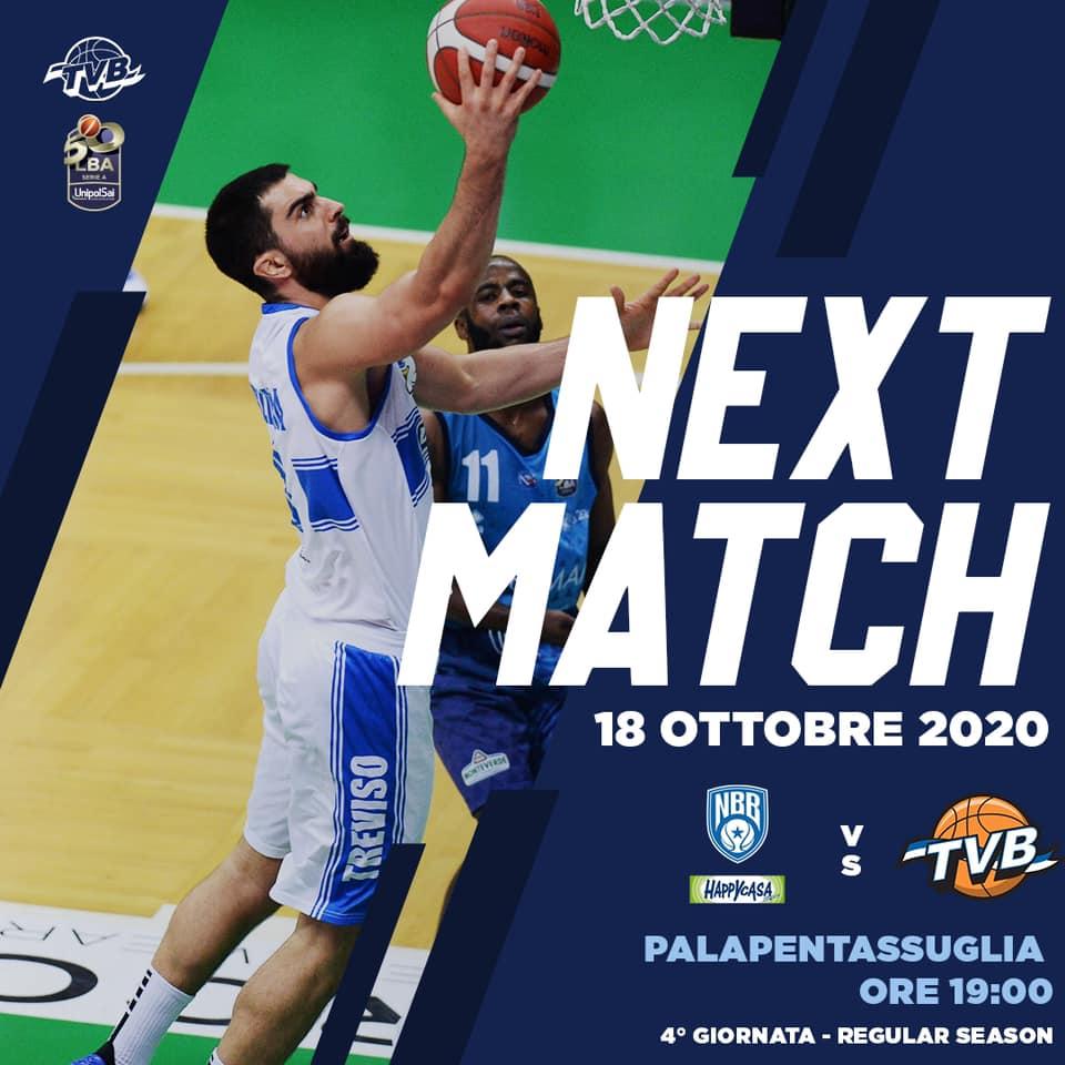 LBA Legabasket 2020-21 4^ andata: l'Happy Casa Brindisi vuole vincere contro una Treviso in cerca di riscatto