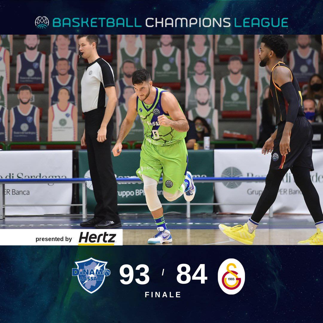 Basketball Champions League #Game1 2020-21: all'esordio la Dinamo Sassari di Marco Spissu risponde presente vs il Galatasaray