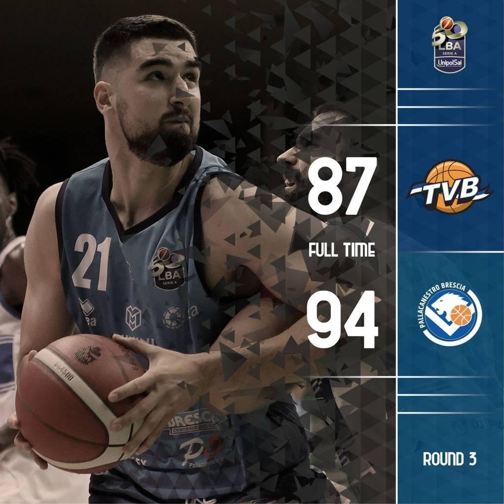 LBA Legabasket 3^ andata 2020-21: in una partita bellissima la Germani Brescia prevale su una Treviso comunque mai doma