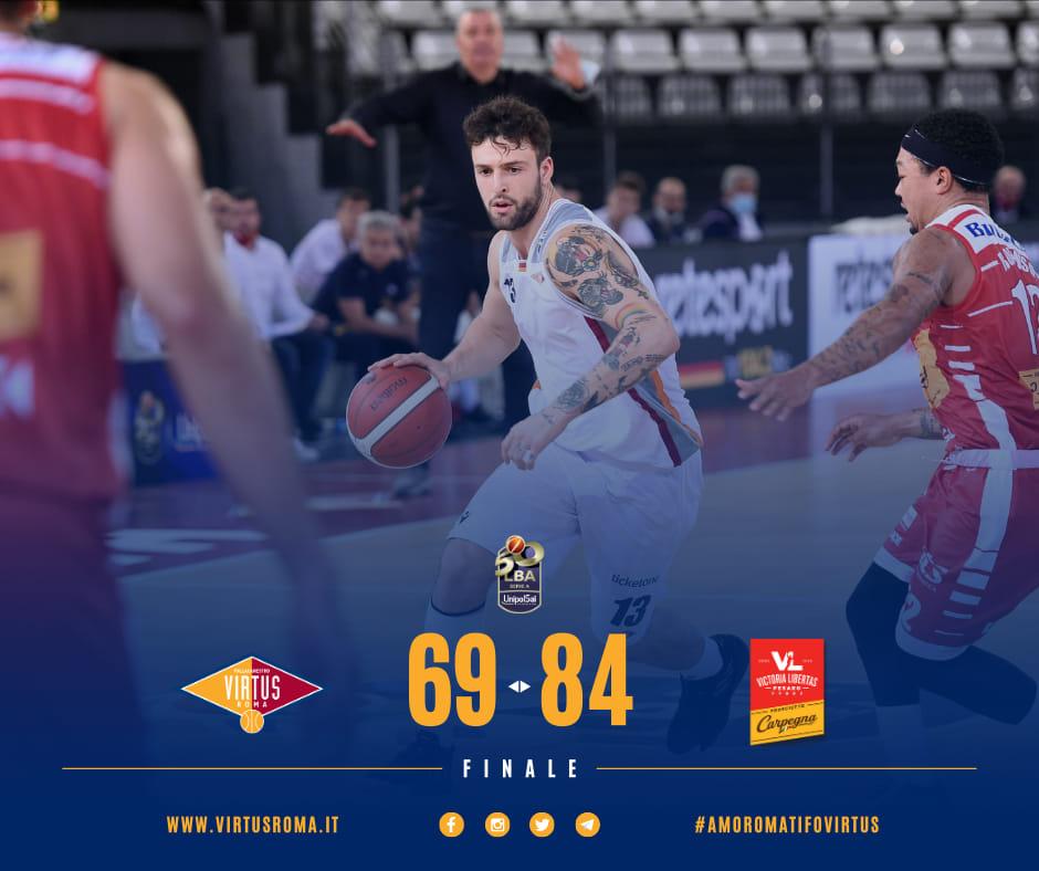 LBA Legabasket 5^ andata 2020-21: la Virtus Roma ci prova pure ma la Carpegna Prosciutto Pesaro è più squadra di lei