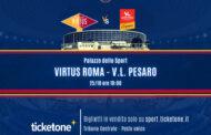 LBA Unipolsai 5^ andata 2020-21: la Virtus Roma riceve la Carpegna Prosciutto Pesaro finalmente con il pubblico ma nel solito clima triste...
