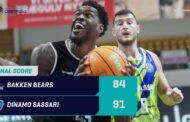 Basketball Champions League #Game3 2020-21: la Dinamo Sassari vince in Danimarca sul campo del Bakken Bears 84-91