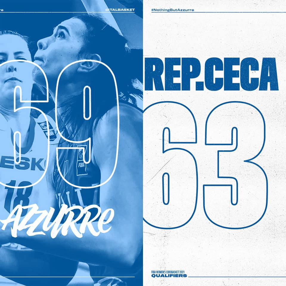 EuroBasket Women's Qualyfin #Round2 2021: è un'Italbasket Rosa che fa sognare quella che batte la Rep. Ceca per 63-69 dopo 25 anni in gare ufficiali!