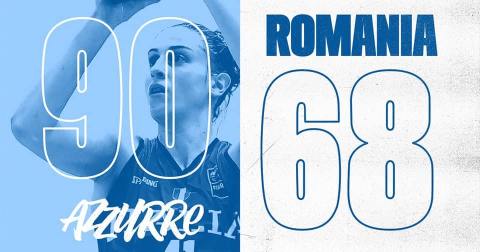 EuroBasket Women's Qualyfin #Round2 2021: bene al debutto l'Italbasket Rosa che batte la Romania per 90-68