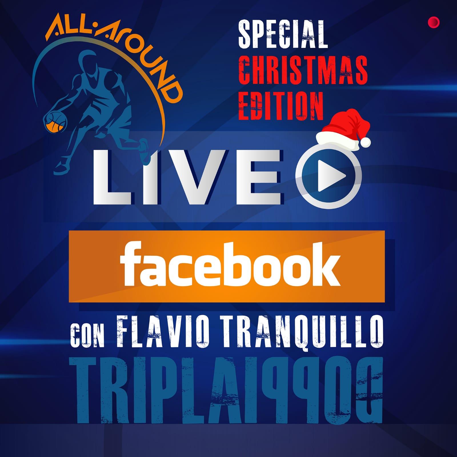 TriplaDoppia by All-Around.net special edition 2020-21: per la 13^ Puntata della nuova stagione live su Facebook di TriplaDoppia come ospite c'è Flavio Tranquillo