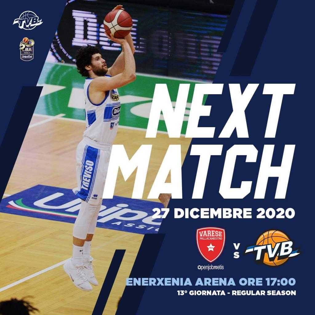 LBA Unipolsai 13^ andata 2020-21: l'Openjobmetis Varese non può più perdere tempo, battere la Dè Longhi Treviso è importante