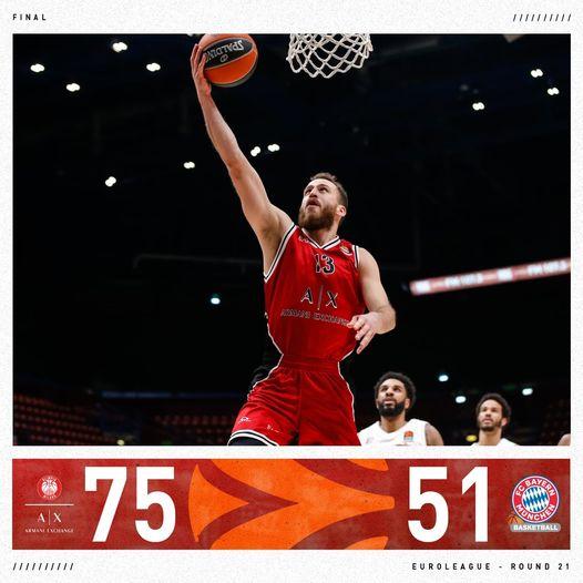 Turkish Airlines Euroleague #Round21 2020-21: l'Olimpia Milano è forte e spietata, il Bayern inguardabile, al Forum non c'è partita
