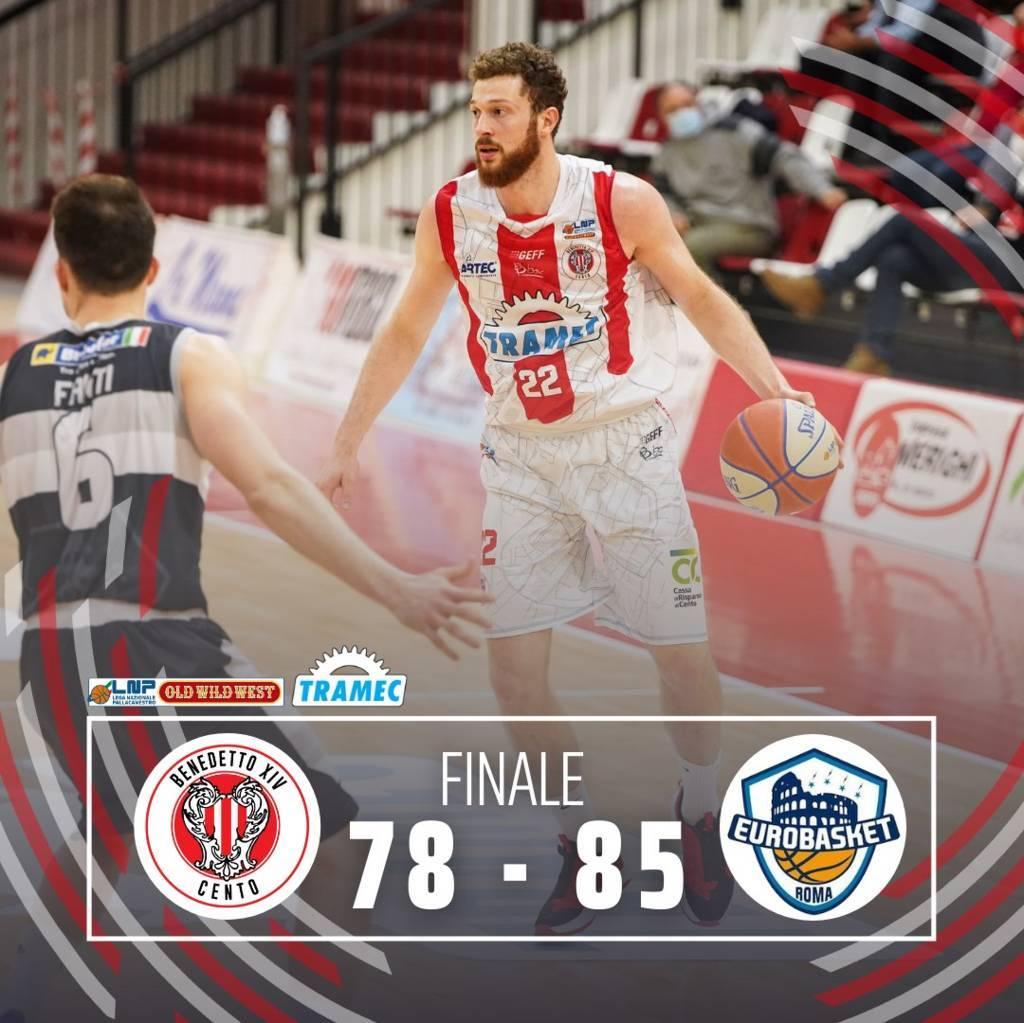 A2 Old Wild West recupero 4^ andata girone rosso 2020-21: l'Atlante Eurobasket Roma vince anche sul campo della Tramec Cento