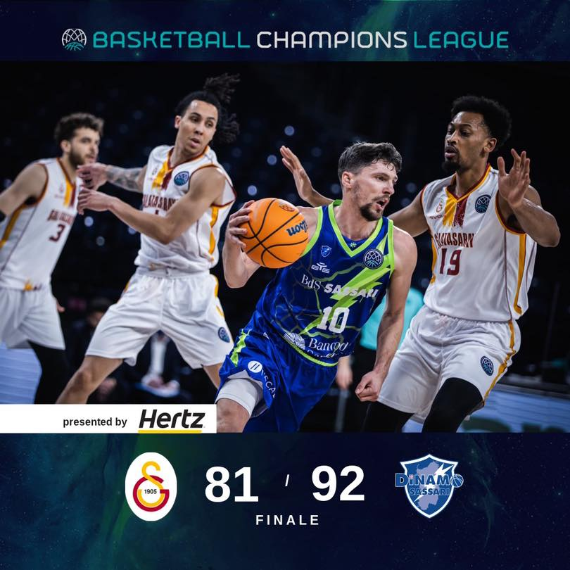 Basketball Champions League #Game6 2020-21: sul ponte di Galata la Dinamo Sassari si qualifica ai Playoff battendo il Galatasaray 81-92