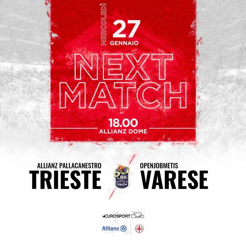 LBA Unipolsai recupero 14^ andata 2020-21: l'Allianz Trieste è comunque in fiducia, per l'Openjobmetis Varese sarà impossibile fermarla?