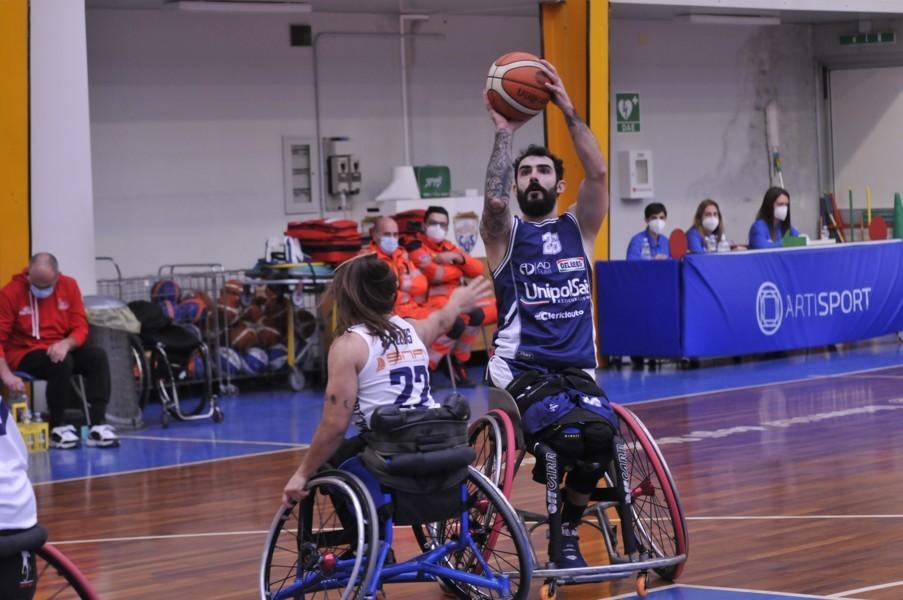 Basket in carrozzina #SerieAFipic 3^ andata girone B 2021: nel #BigMatch l'Unipolsai Briantea84 Cantù espugna il campo del Key Estate GSD Porto Torres