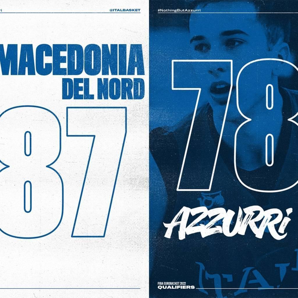 FIBA EuroBasket Men 2022 qualifiers: l'Italbasket gioca solo un tempo poi cede il passo ad una Macedonia del Nord più motivata, considerazioni post gare