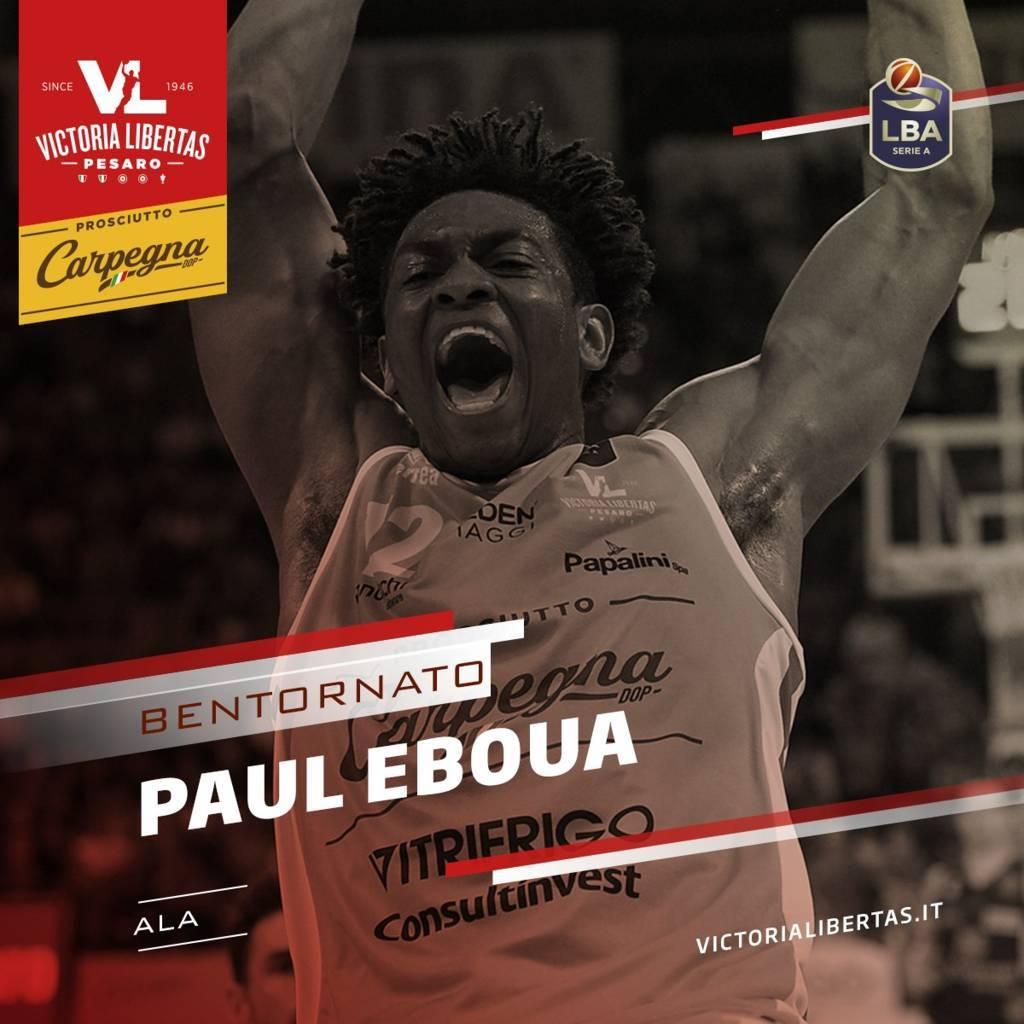 LBA UnipolSai Mercato 2020-21: un (altro) ritorno in Italia ecco Paul Eboua di nuovo alla Carpegna Prosciutto VL Pesaro Basket