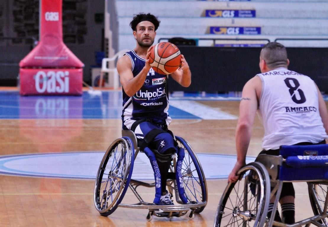 Basket in carrozzina #SerieAFipic Playoffs 2021: in #Gara1 delle semifinali l'UnipolSai Briantea84 Cantù passa sul campo della DECO Group Amicacci Giulianova