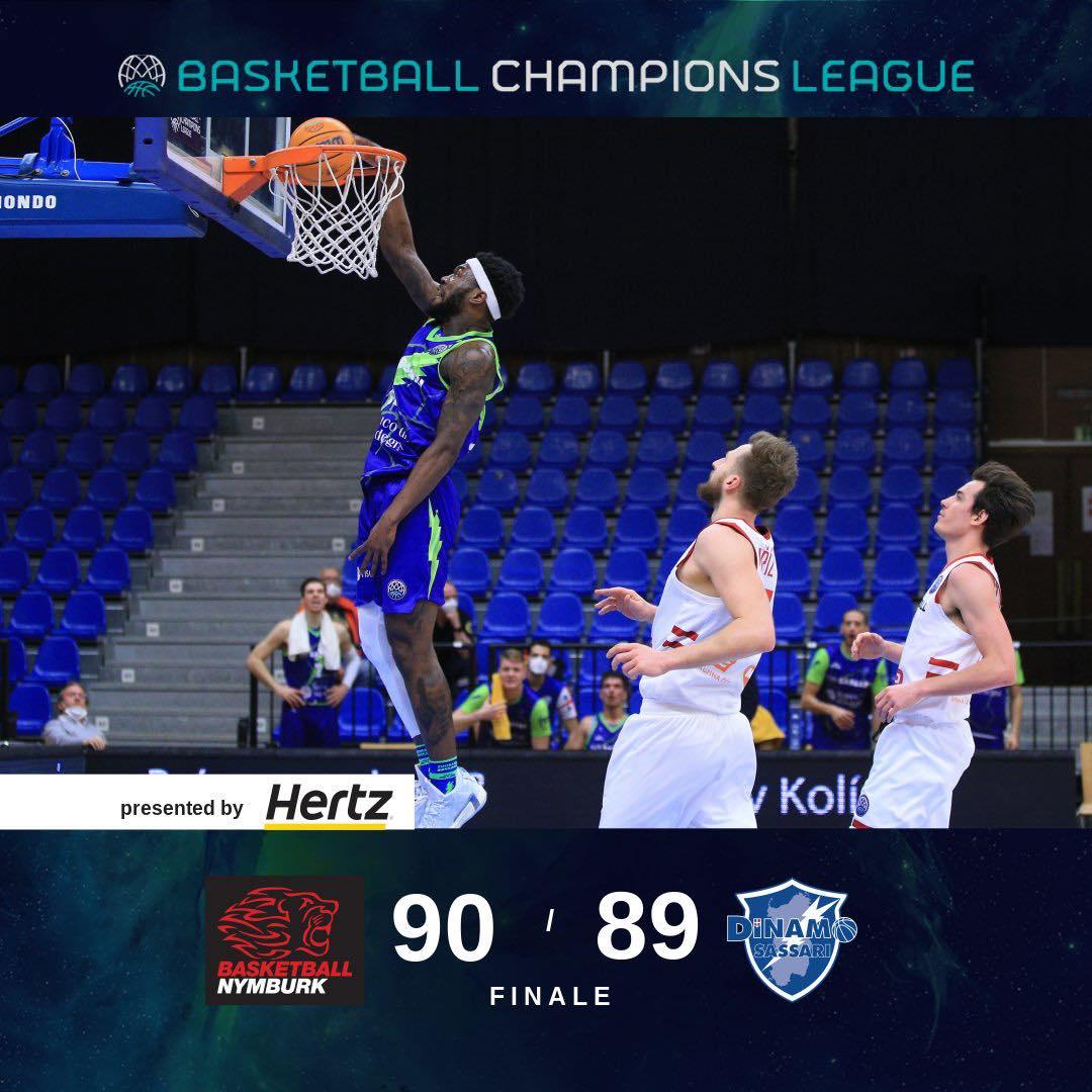 Basketball Champions League #Game2 Playoffs 2021: una vera beffa all'ultimo secondo per la Dinamo Sassari che cede all'ERA Nymburk di un punto