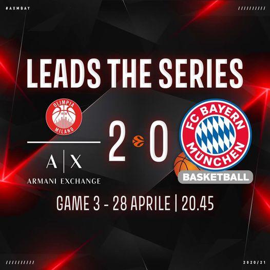 Turkish Airlines Euroleague Playoff #game2 2020-21: l'Olimpia Milano vince ancora contro il Bayern, ora le Final Four distano solo una vittoria