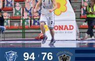 LBA UnipolSai recupero 7^ ritorno 2020-21: Bendzius è l'energia della Dinamo Sassari che batte una spenta Aquila Trento.
