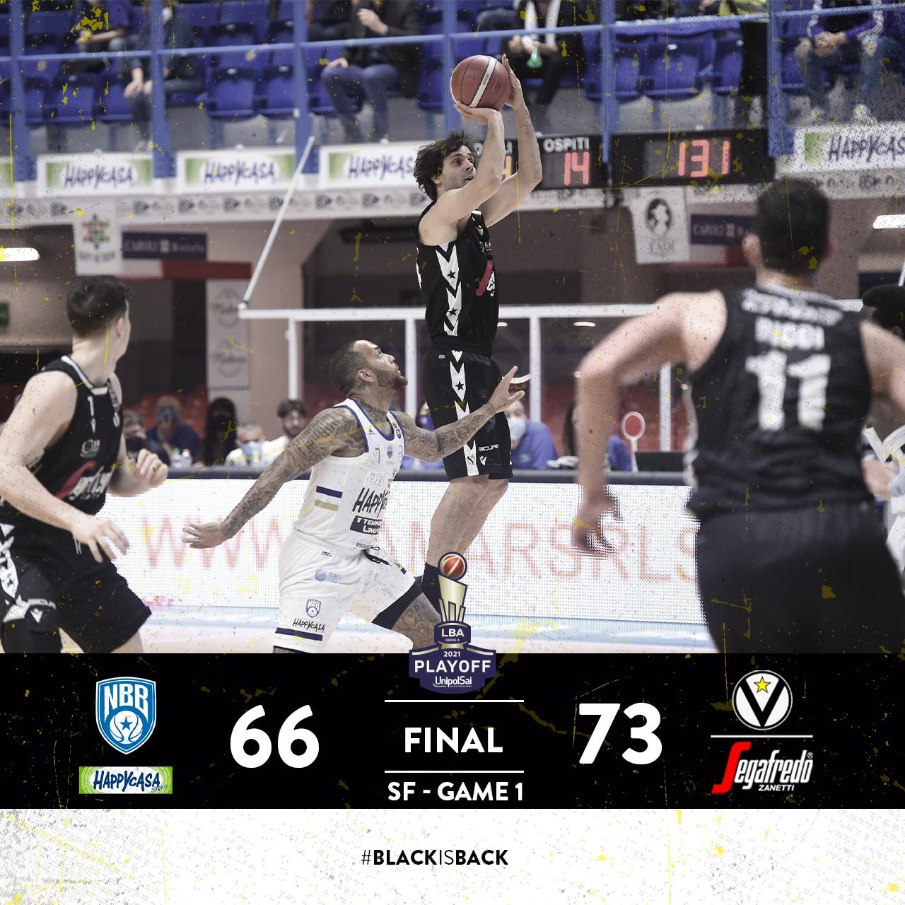 LBA #Gara1 #Semifinali #Playoff 2021: la Virtus Segafredo Bologna espugna il PalaPentasuglia e si porta sull'0-1 contro una scentrata Happy Casa Brindisi