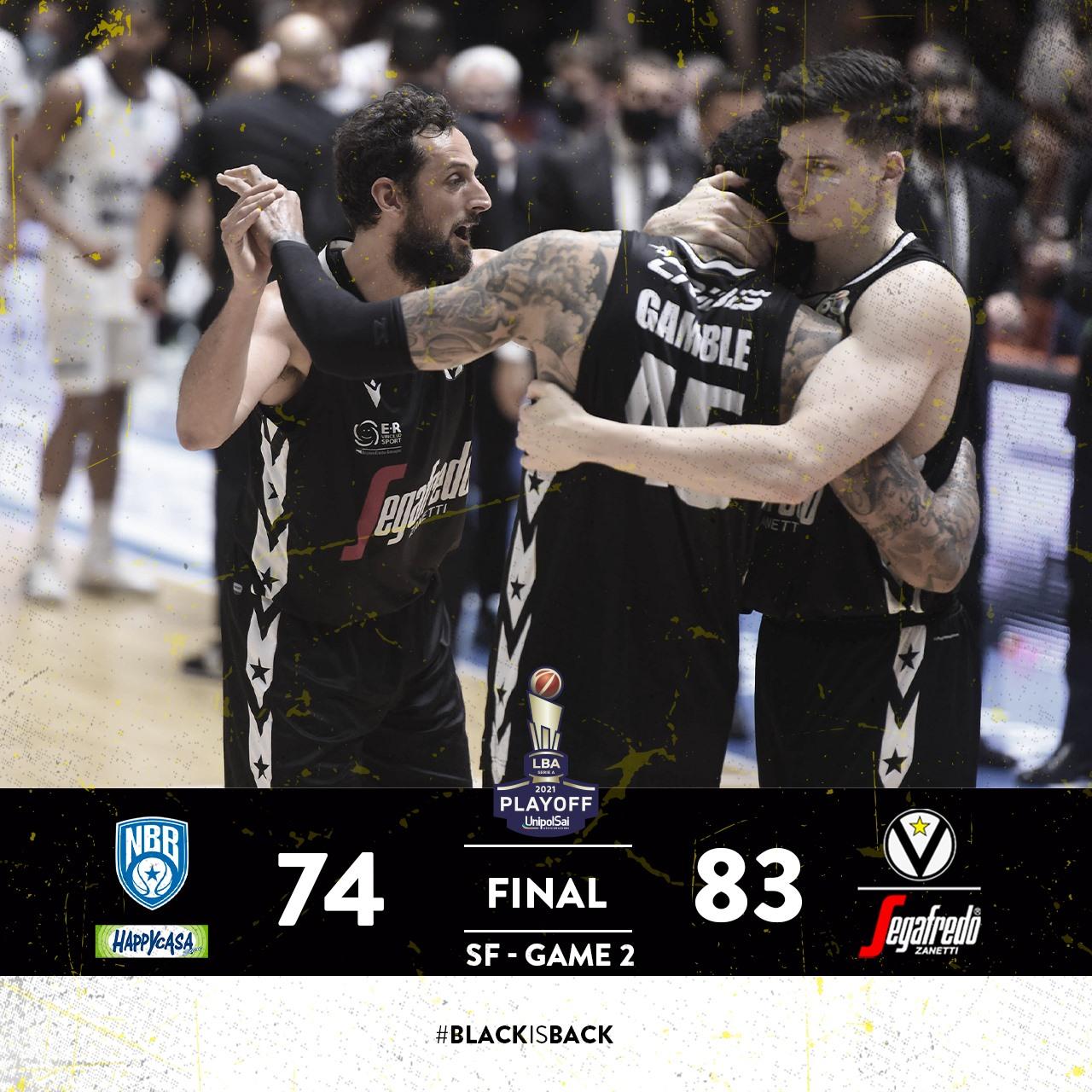 LBA #Gara2 #Semifinali #Playoff 2021: la difesa della Virtus Segafredo soffoca una Happy Casa stanca. Bologna si porta sullo 0-2 contro Brindisi
