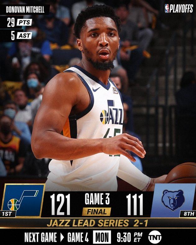NBA Playoffs #Gara3 2021: i Philadelphia Sixers sul 3-0 vs i Washington Wizards in trasferta, come gli Utah Jazz di Super Mitchell vs Memphis Grizzlies che conducono ora 1-2