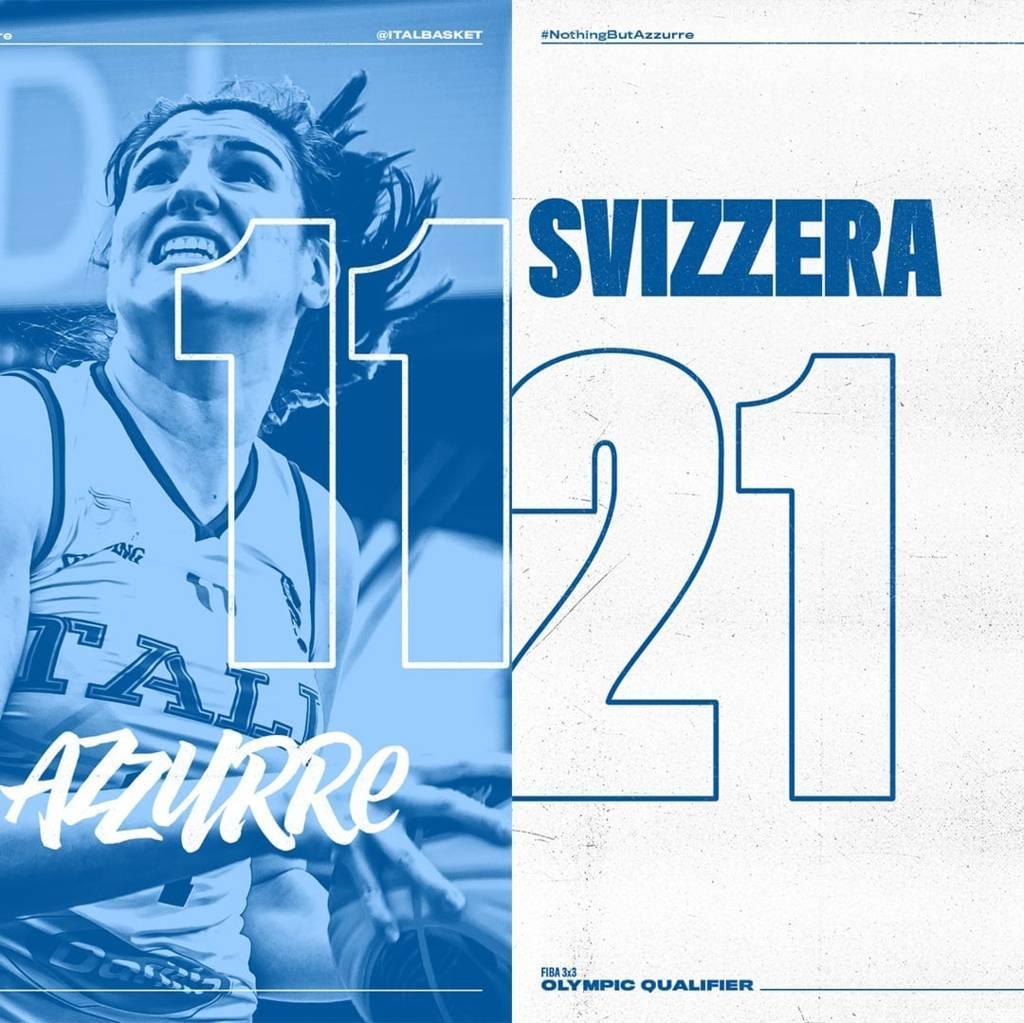 FIBA 3×3 Olympic Qualifying Tournament 2021: l'Italbasket Rosa non riesce a battere Austria e Svizzera, adesso ultima chance in Ungheria
