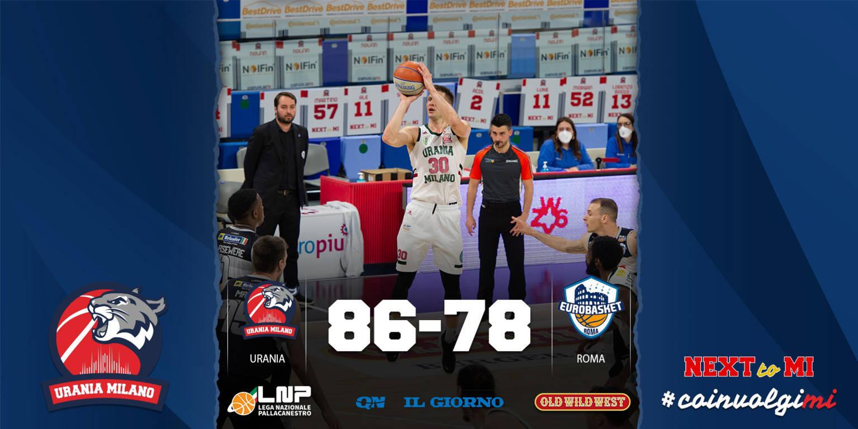 A2 Old Wild West 5^ giornata girone giallo 2020-21: l'Atlante Eurobasket Roma non riesce a vincere fuori casa, l'Urania Basket Milano festeggia i 1.000 punti di Nik Raivio con i Wildcats