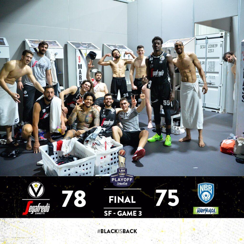 LBA #Gara3 #Semifinali #Playoff 2021:  Milos Teodosic trascina la Segafredo Bologna in Finale dopo 14 anni sconfiggendo una coraggiosa Happy Casa Brindisi
