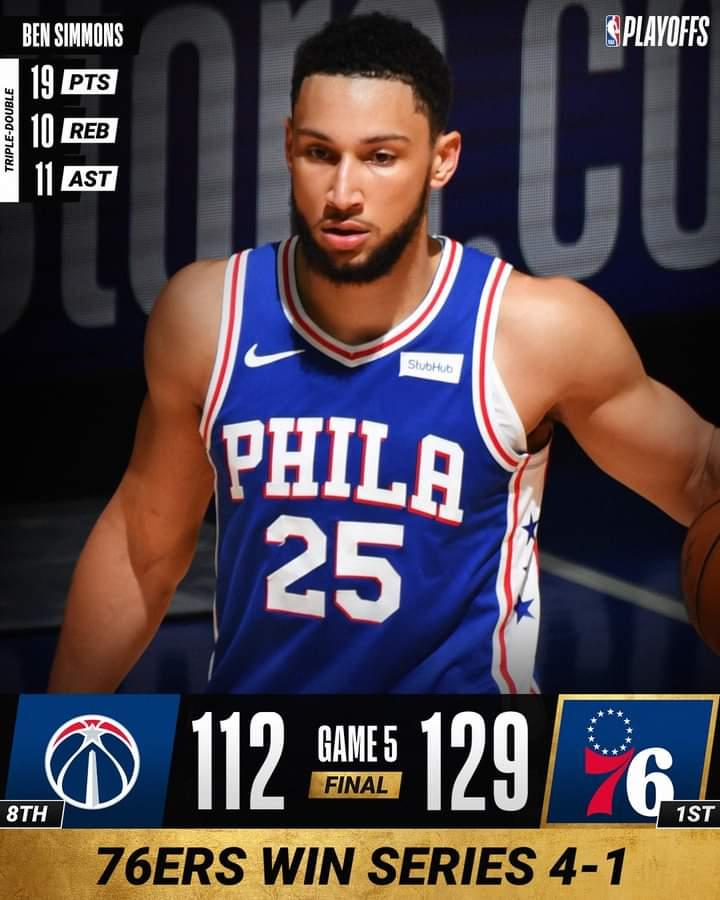 NBA Playoffs Gara5 2021: ad Est Philadelphia Sixers in semifinale come gli Atlanta Hawks, battuti i Washington Wizards ed i New York Knicks