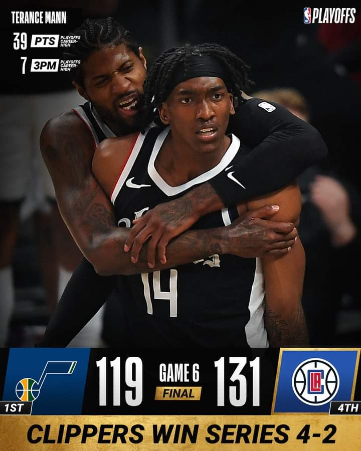 NBA Playoffs #Gara6 Semifinali 2021: Los Angeles Clippers in Finale ad Ovest, Utah Jazz sconfitti in California rimontando da -25 grazie a Terance Mann