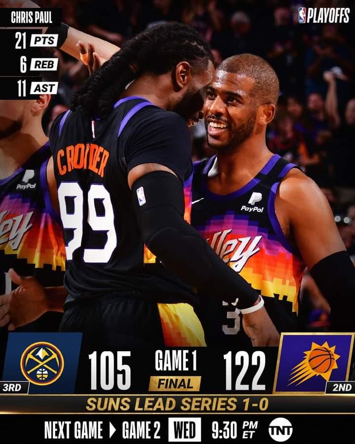 NBA #Gara1 Playoffs semifinali 2021: ad Ovest i Phoenix Suns battono all'esordio nella serie i Denver Nuggets per 112-105