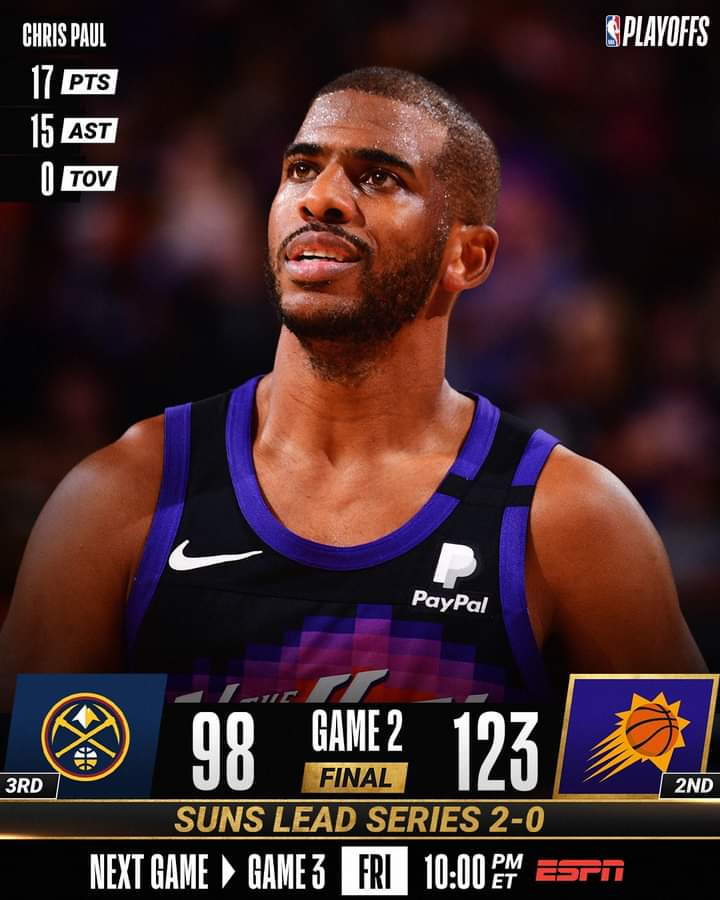 NBA Playoffs #Gara2 Semifinali 2021: tanta roba i Phoenix Suns che fanno il bis vs i Denver Nuggets