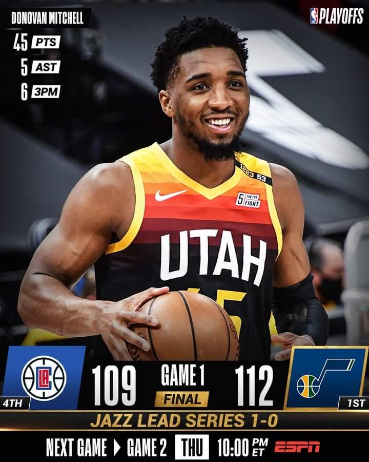 NBA #Gara1 Playoffs semifinali 2021: ad Ovest molto bene gli Utah Jazz vs Los Angeles Clippers, 112-109 in un match combattuto