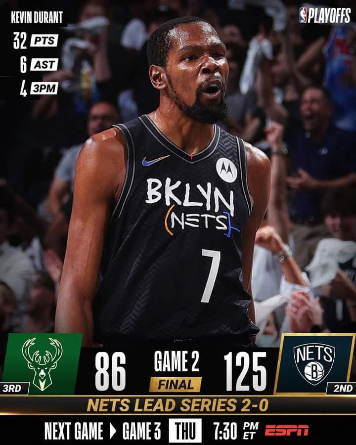 NBA #Gara2 Playoffs semifinali 2021: devastanti i Brooklyn Nets che matano i Milwaukee Bucks per 125-86, 2-0 nella serie