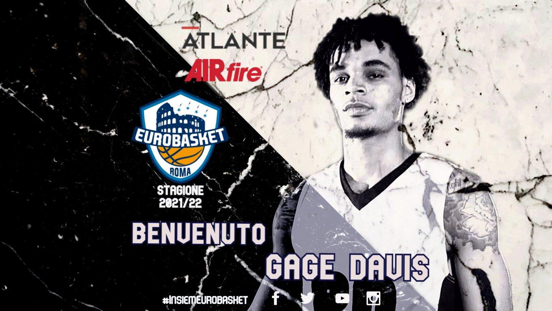 Serie A2 Mercato 2021-22: l'Atlante Eurobasket Roma porta in biancoblu la giovane ala piccola americana Gage Davis