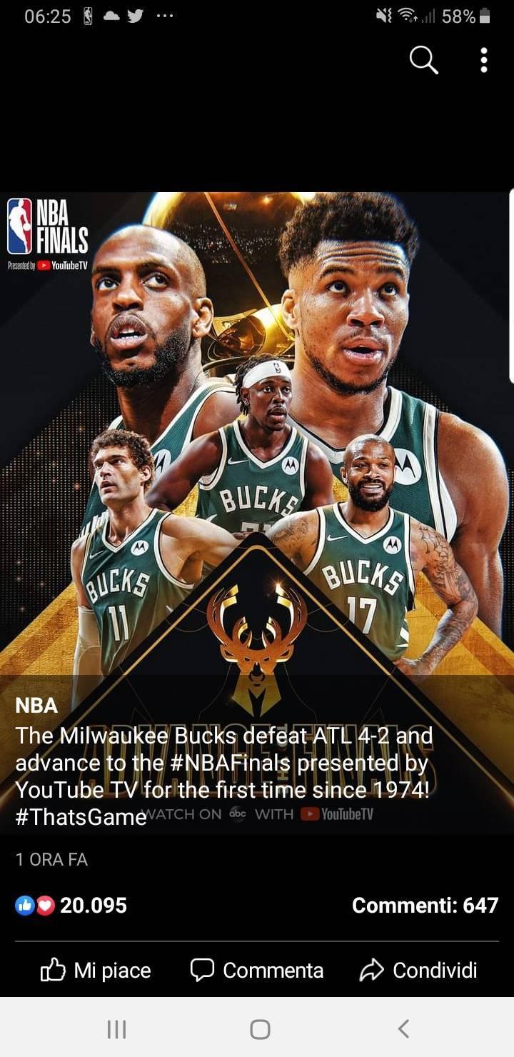 NBA Playoffs #Gara6 Finali Est 2021: anche i Milwaukee Bucks fanno la storia, battuti gli Atlanta Hawks e martedì 6 luglio via alle Finals vs i Suns