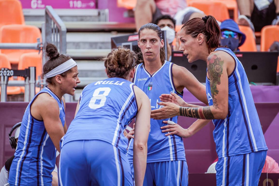 Torneo Olimpico Tokyo 2020: eliminata dal torneo l'Italbasket Rosa 3x3 ai quarti di finale che si arrende alla Muraglia cinese per 19-13