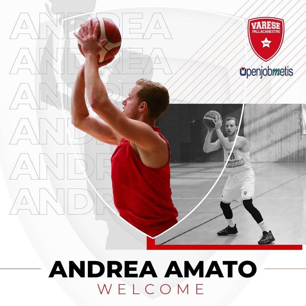 LBA UnipolSai Mercato 2021-22: anche l'Openjobmetis Varese si cautela ingaggiando Andrea Amato prima del debutto vs la Germani Brescia