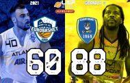 Serie A2 Supercoppa Old Wild West 3° turno 2021: l'Atlante Eurobasket Roma cede in casa vs una solidissima Givova Scafati 60-88
