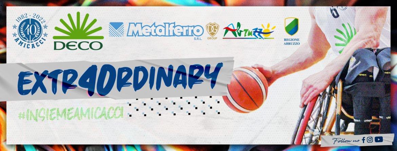 Basket in carrozzina #SerieAFipic 2021-22: nasce l'Amicacci Abruzzo con la denominazione Deco Metalferro