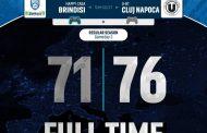 FIBA Basketball CL #Game2 2021-22: l'Happy Casa Brindisi perde anche vs l'U-BT Cluj Napoca, qualificazione a rischio